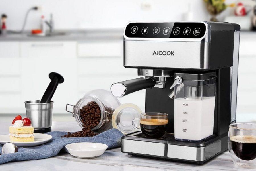 Caftera Espresso Aicook Late15 bares Capacidad 1.8L, FOREXPROS CAFE