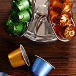 Lumaland Cuisine Portacápsulas metálico vertical giratorio para cápsulas de café Nespresso, FOREXPROS CAFE