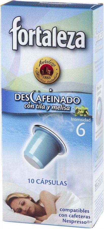 Café Descafeinado Fortaleza con Tila y Melisa