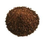Ejemplo de molienda de café mediano. Se utiliza para el método de goteo y vertido.