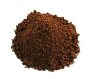 Ejemplo de molienda de café súper fino. Usado para el café turco.